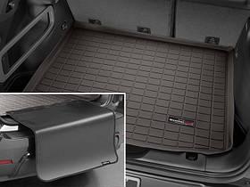 Ковры резиновые WeatherTech Range Rover  2013+ в багажник какао с накидкой