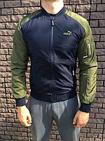 Бомбер - Мужской в стиле Puma (Синий с зеленым), фото 1