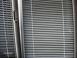 Жалюзи горизонтальные Platogor, 25 мм, классические, алюминиевые, белые, с фиксацией на металл тросе, фото 4