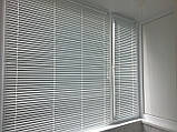 Жалюзи горизонтальные Platogor, 25 мм, классические, алюминиевые, белые, с фиксацией на металл тросе, фото 5