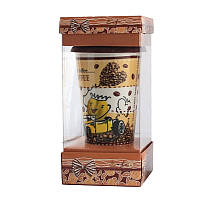 Кружка с силиконовой крышкой в подарочной упаковке Coffee SKL11-203597