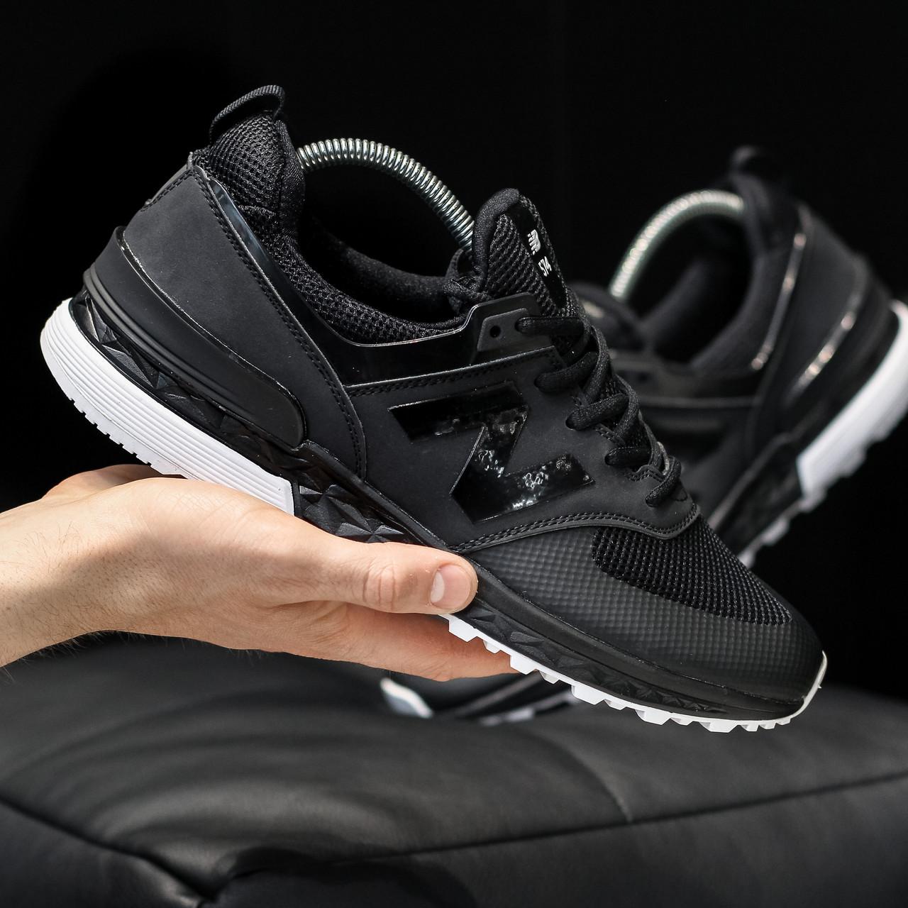 Мужские кроссовки New Balance 574 Sport  Black, Реплика