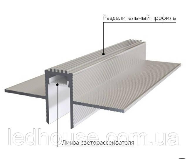 Парящие линии для потолков с гипсокартона (Раздельный) 12-27-65 мм LED