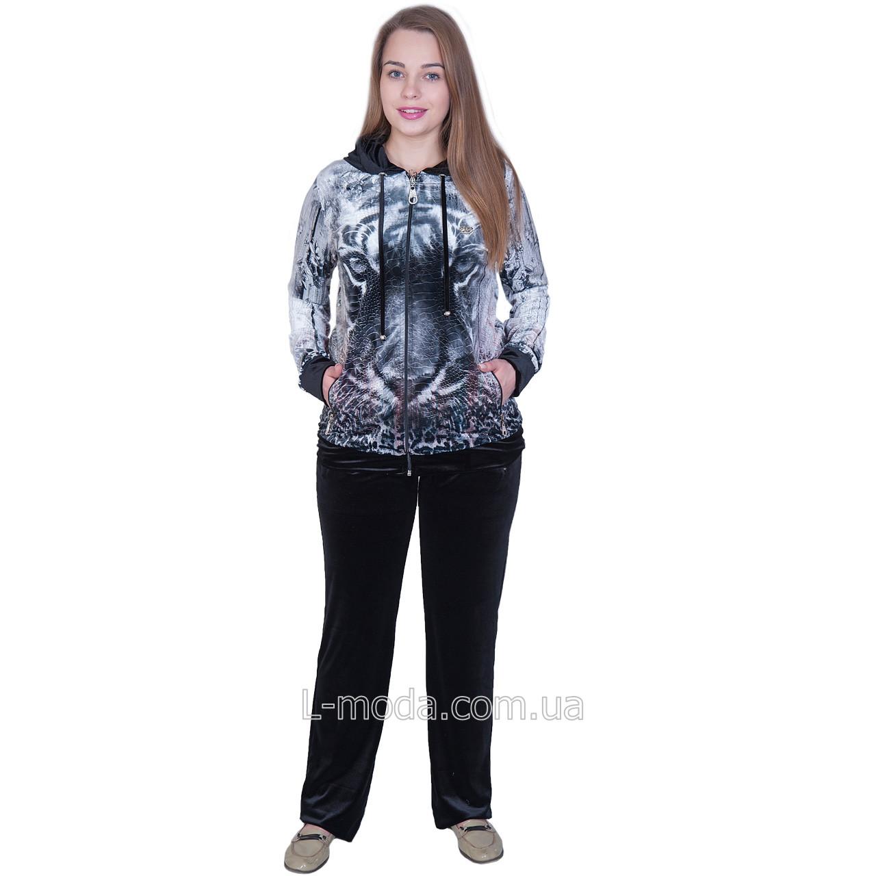 Спортивный костюм женский велюровый туретского бренда 0RR-N3941