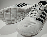 Кроссовки белые сетка, фото 3