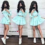 Костюм женский топ с оборками/рюшами и юбка-шорты (в расцветках), фото 8