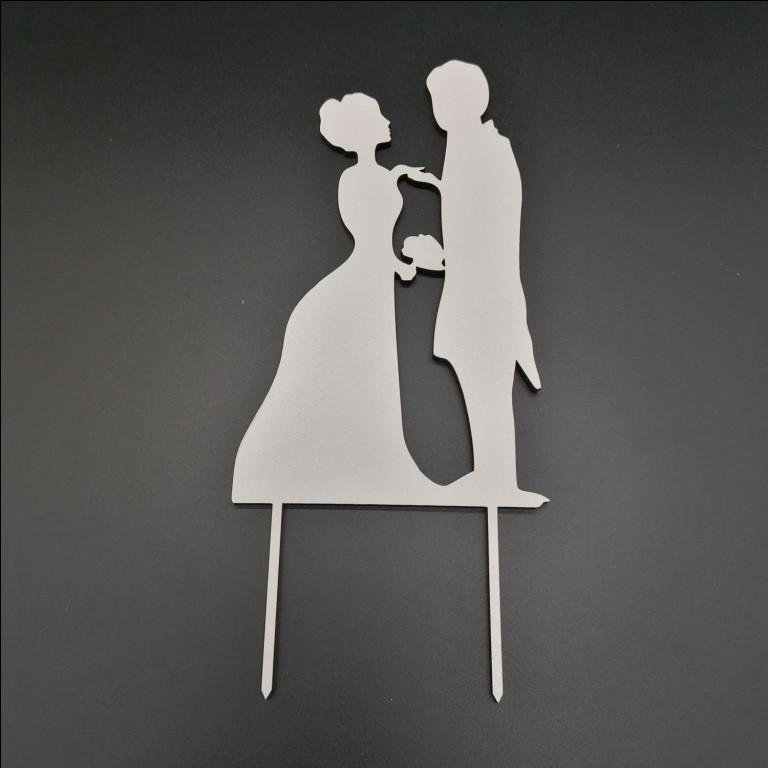Деревянный топпер для свадебного торта, 15х9 см (арт. TPR-017)