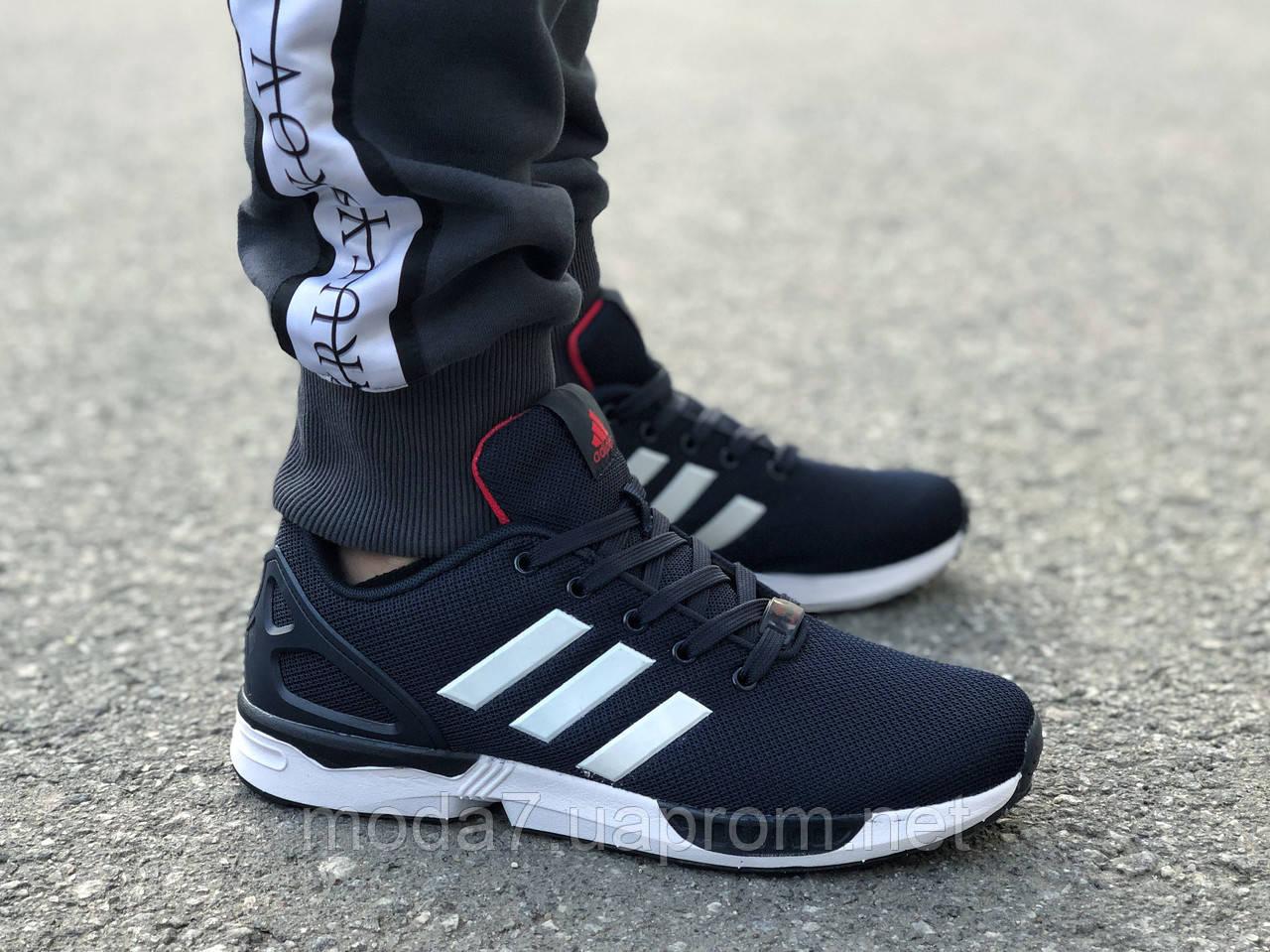 Мужские кроссовки Adidas Flux синие реплика