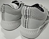 Кроссовки белые сетка, фото 4