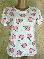 Футболка жіноча рожеве морозиво 0RR-6267