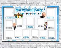 Плакат для праздника 12 місяців Босс Молокосос (Baby Boss) 75 СМ Х 120 СМ