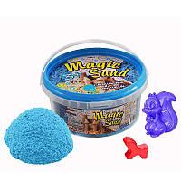 Кинетический песок Strateg Magic sand, светится в темноте, голубого цвета, ведро 350 г SKL11-237241
