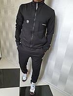 Стильный мужской спортивный костюм из двухнити, брюки зауженные к низу(42-50), фото 1
