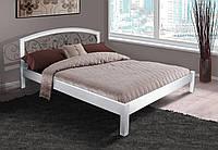 Кровать Джульетта с кованым изголовьем 140-200 см (белая)