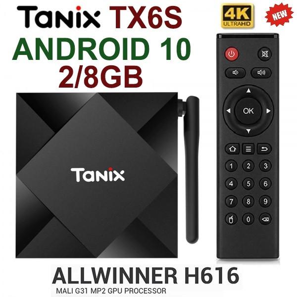 TV-Приставка Tanix TX6S 2/8GB ALLWINNER H616 (Android Smart TV Box)