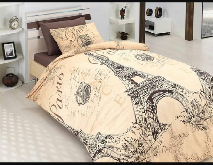 Семейное постельное белье-  Париж города 0RR-Париж -лм-семья