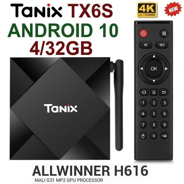 TV-Приставка Tanix TX6S 4/32GB ALLWINNER (Android Smart TV BOX, Андроид Смарт ТВ Приставка, Андроїд тв бокс)