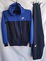 """Спортивный костюм подростковый """"Nike""""10-14. Темно-синий. Оптом"""