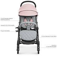 Коляска детская ME 1058 WISH Pink Gray Гарантия качества Быстрая доставка, фото 2