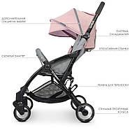 Коляска детская ME 1058 WISH Pink Gray Гарантия качества Быстрая доставка, фото 5