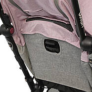 Коляска детская ME 1058 WISH Pink Gray Гарантия качества Быстрая доставка, фото 9
