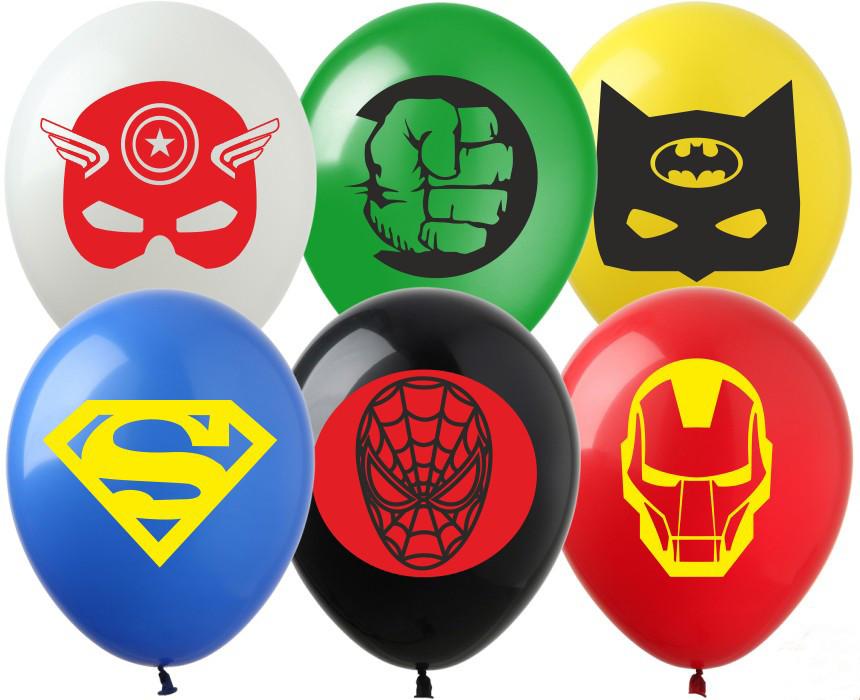 Воздушные шары с рисунком  Супер герои (1ст.)