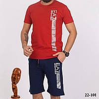 Стильный мужской спортивный костюм шорты с футболкой из турецкого трикотажа(46-52), фото 1
