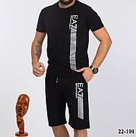 Стильний чоловічий спортивний костюм, шорти з футболкою з турецького трикотажу(46-52)