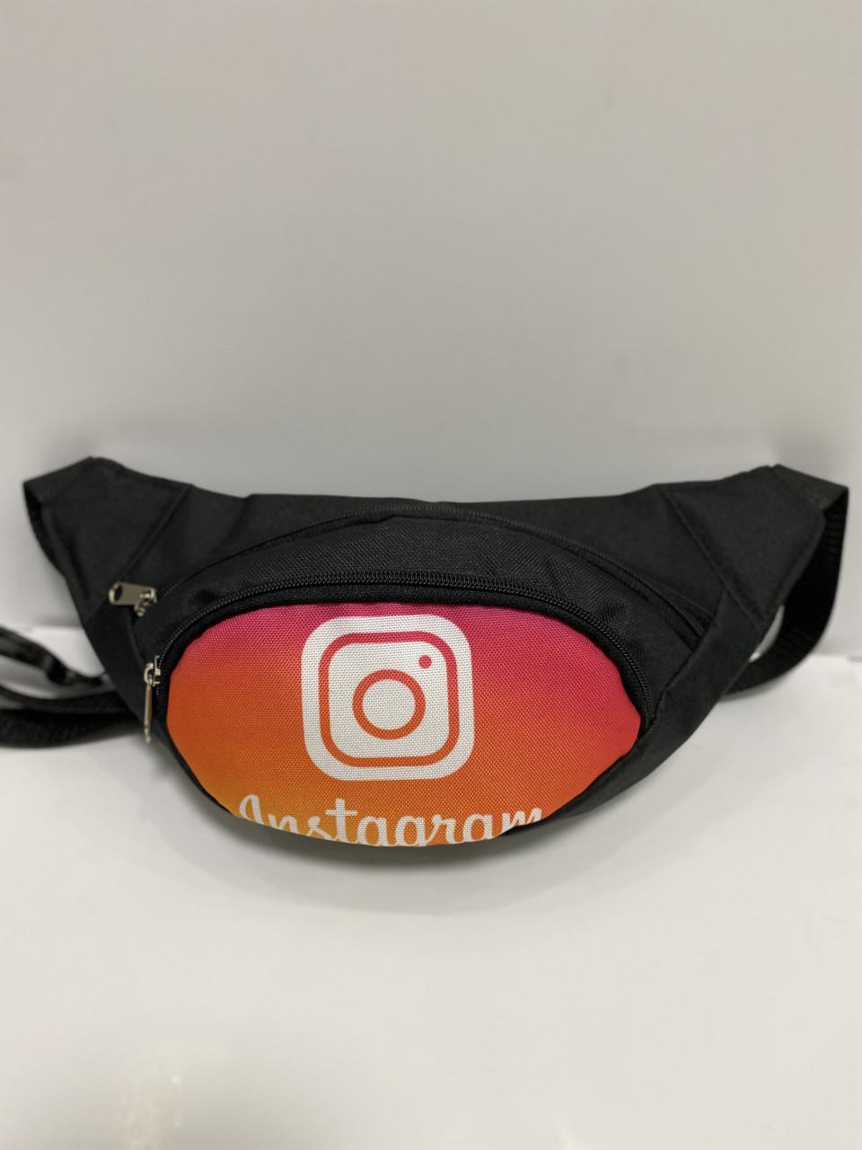 Поясная сумка Бананка сумка на пояс тканевая с ярким принтом молодежная инстаграм
