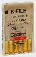 K-File, Dentsply Maillefer (K-файлы), 6 шт/упаковка.