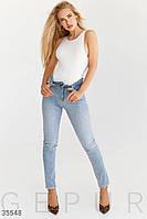Skinny из классического голубого джинса 25,26,27,28,29,30