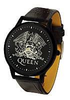 Часы мужские наручные кварцевые Queen круглые, часы с символикой рок группы