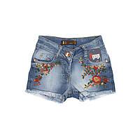 Детские джинсовые шорты для девочки, размер 6, 7, 8, 9,10 лет