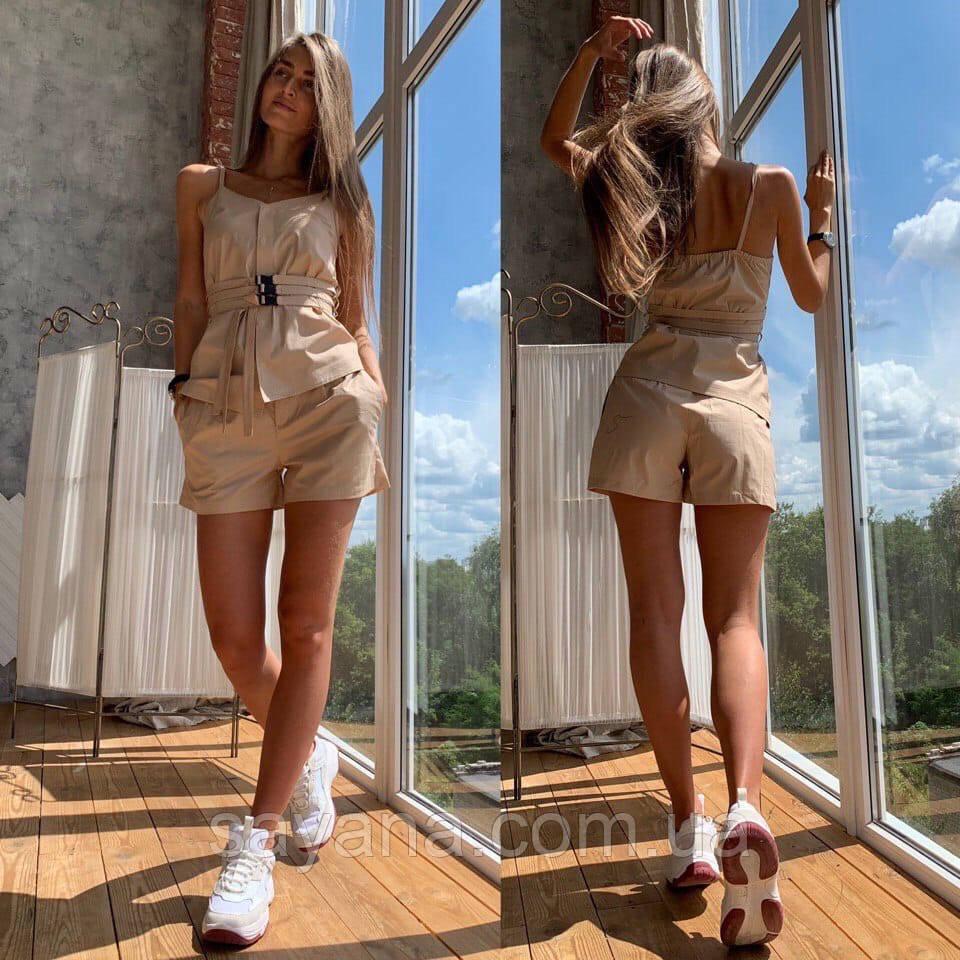 Женский костюм: топ и шорты, в расцветках. ЛД-3-0520 (187)