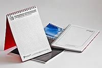 Печать БЛОКНОТА на пружине ЕВРОФОРМАТ 100х210 мм (50 стр) с вашим изображением/Лого