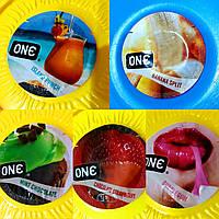 Цветные презервативы со вкусами Премиум сегмента One.Малайзия.1 шт. В ассортименте.Качество Durex., фото 1