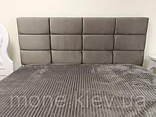 Кровать с мягким изголовьем Рим велюр, фото 3
