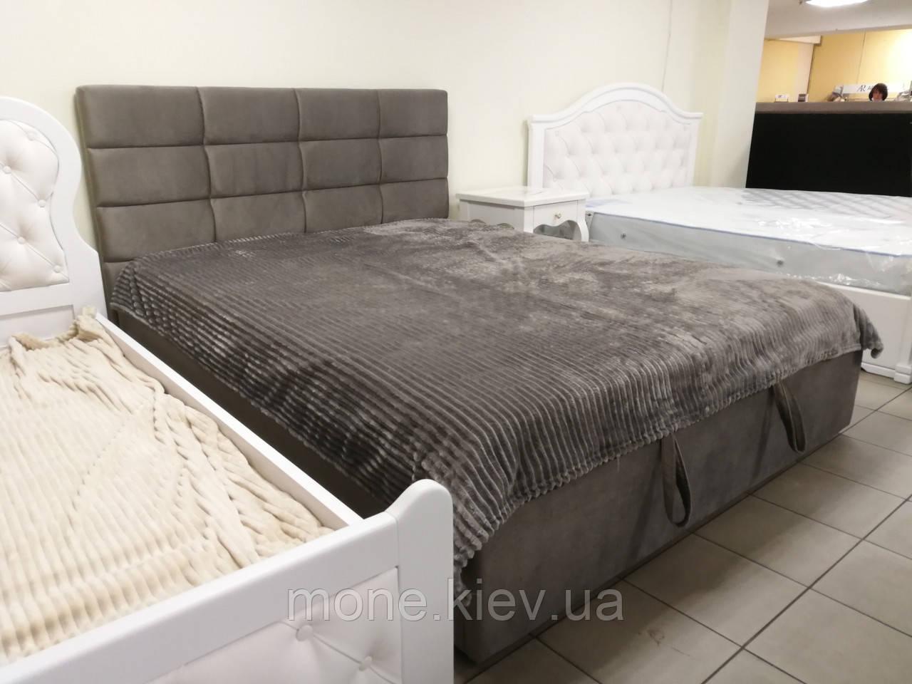 Кровать с мягким изголовьем Рим велюр