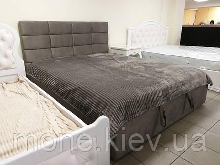 Кровать с мягким изголовьем Рим велюр, фото 2