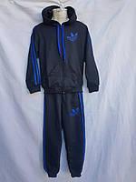 """Спортивный костюм детский """"adidas"""". Размер 4-8. Тёмно-серый. Оптом"""