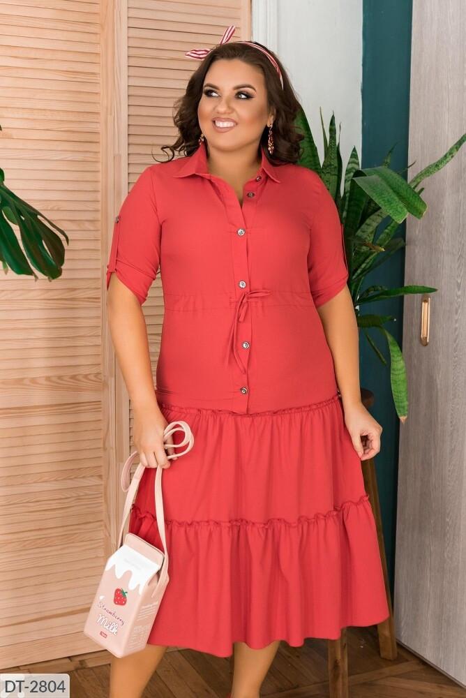 Стильное платье   (размеры 48-56) 0244-56
