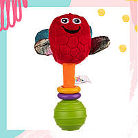 """Іграшка-брязкальце """"Дельфін Доріан"""" (Висота 18 см) """"Balibazoo"""" погремушка для новорожденных"""