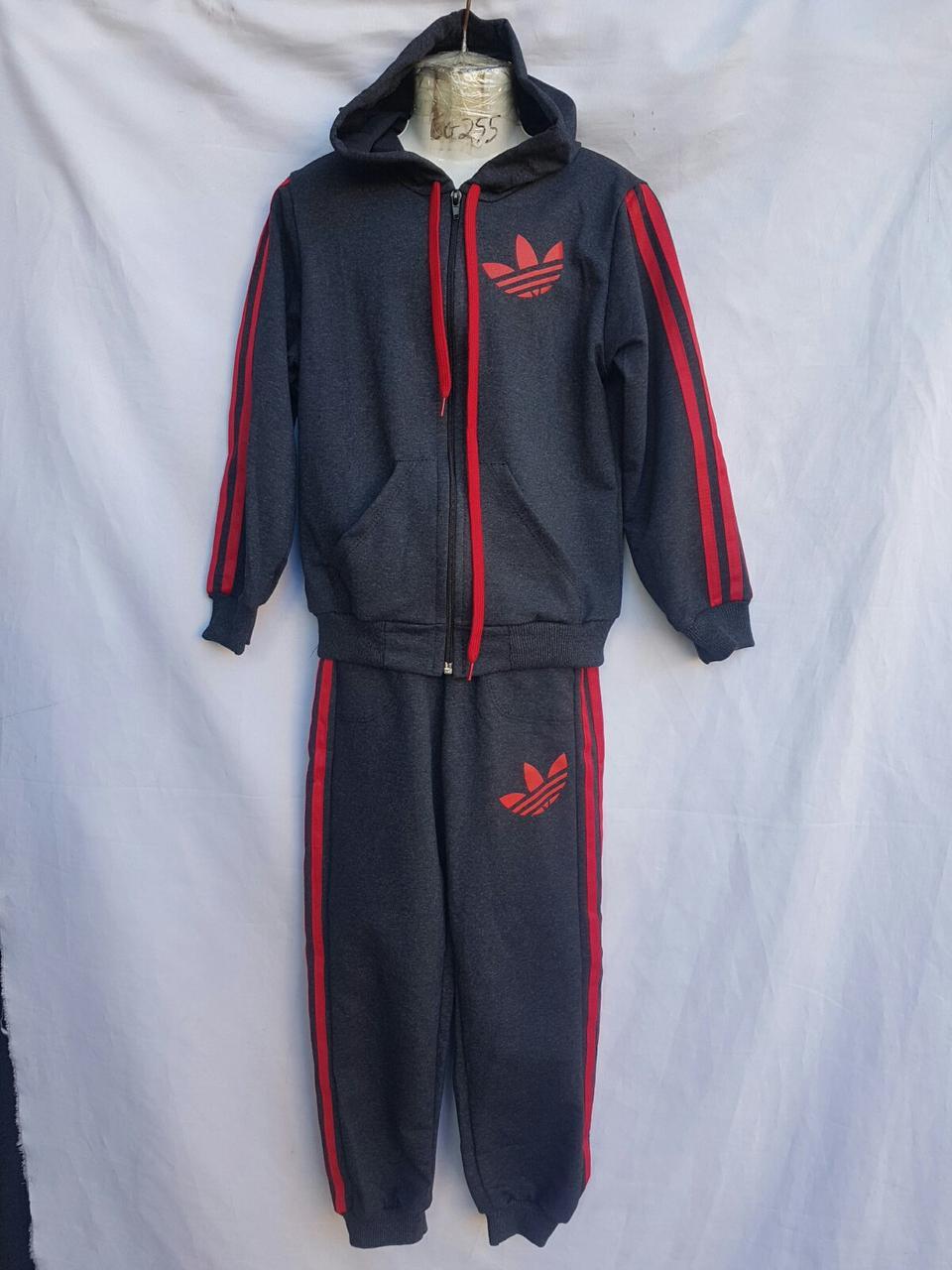 """Спортивный костюм детский """"adidas"""". Размер 4-8. Серый с красным. Оптом"""