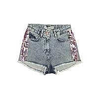 Детские шорты джинсовые для девочки, размер 11, 12, 13, 14, 15 лет.