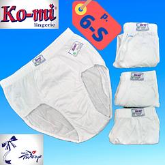 Мужские трусы-плавки Ko-Mi хлопок Турция белые размер 6-S,20011734