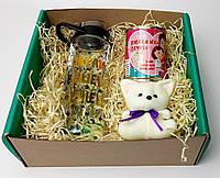 Подарочный набор для дочки: бутылка для воды, консеривованные носочки и игрушка-талисман - Подарок девушке