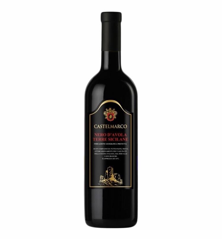 Вино червоне сухе 0,75L Nero D'Avola Terre Siciliane Castelmarco (Неро д'Авола Терре сіціліану)
