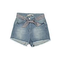 Детские джинсовые шорты для девочки, размер 14 лет, 146 см.