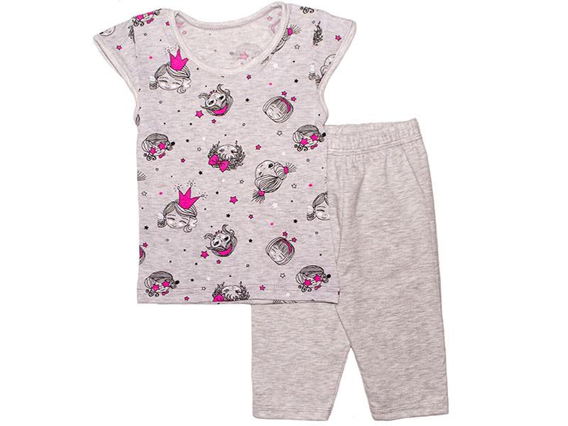 Стильный летний комплект для девочки футболка и шорты