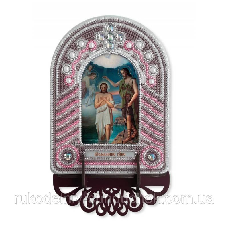 Набір для вишивки бісером з рамкою-киотом Нова Слобода ВК1021 Хрещення Господнє